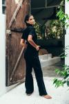 Sukiso Women's Black Kira Denim Jumpsuit - Plus - 2