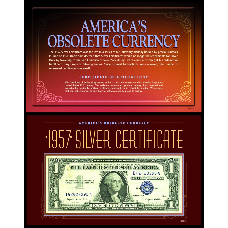 America's Obsolete Currency - 1957 Silver Certificate