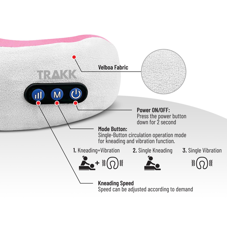 Trakk Wireless Massage Travel Pillow