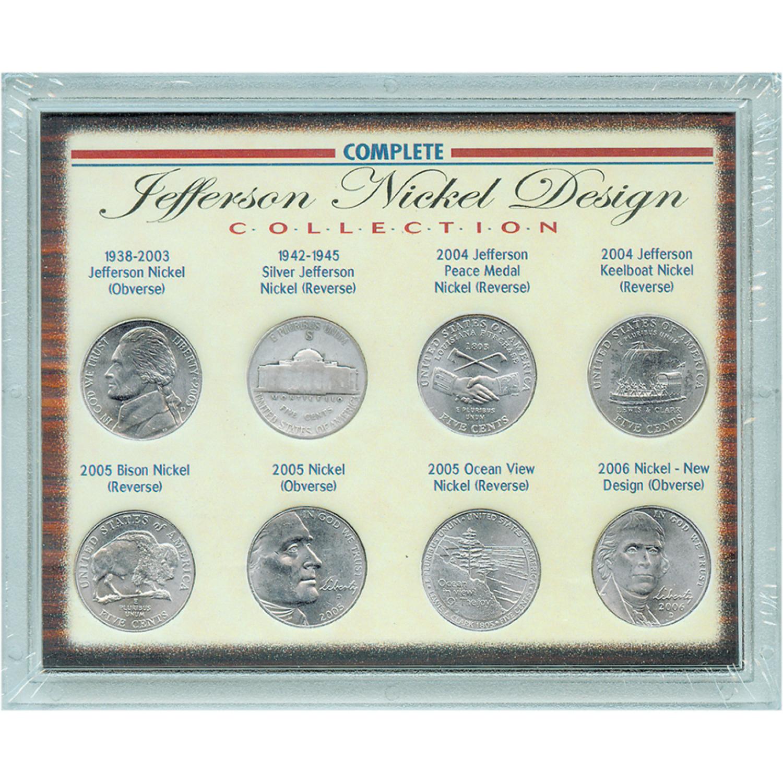 Complete Jefferson Nickel Design Collection