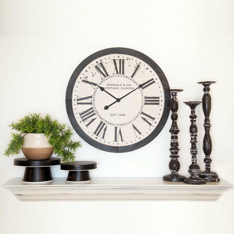 Black & White Embossed Clock