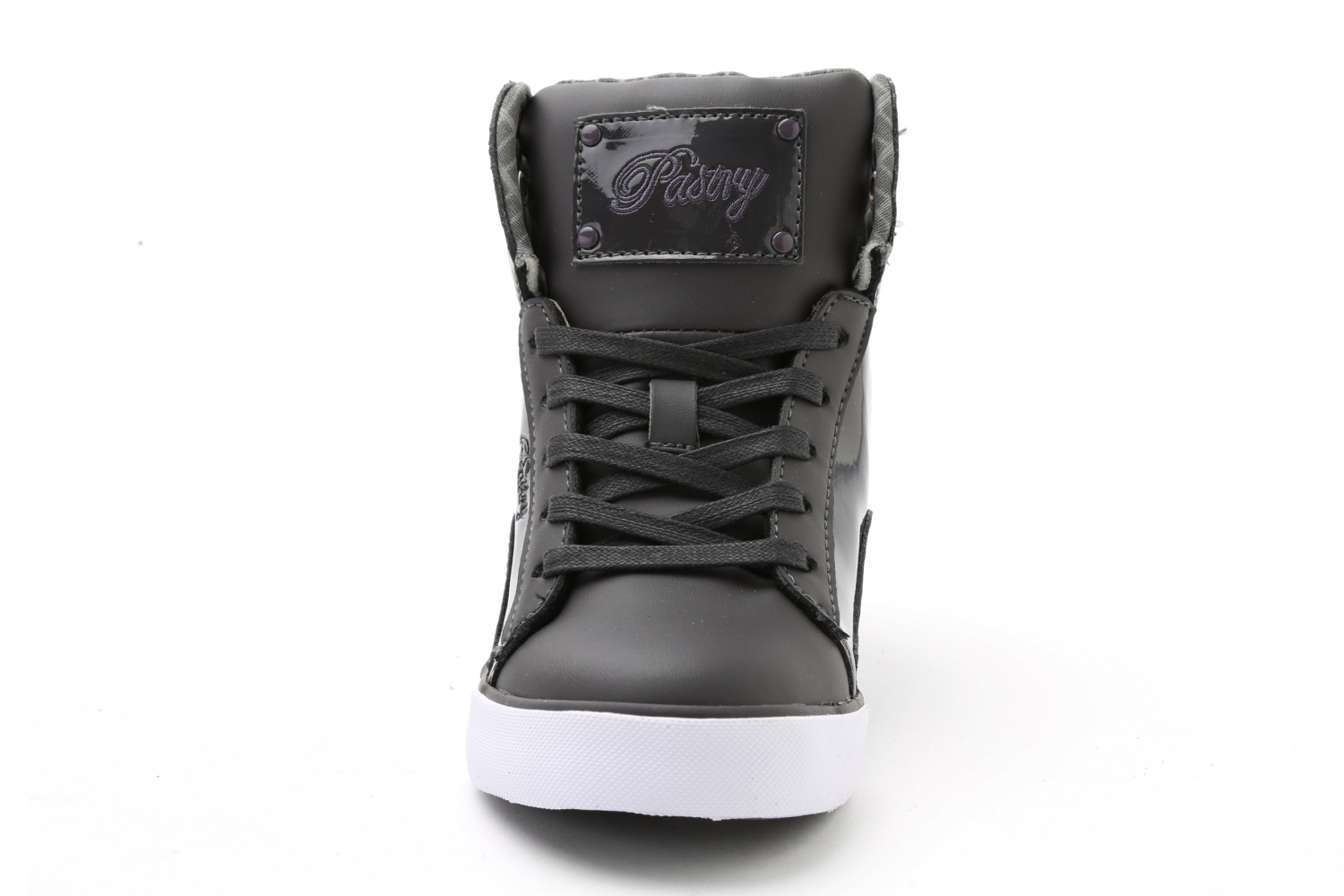 Pastry Pop Tart Grid Youth Sneaker Charcoal