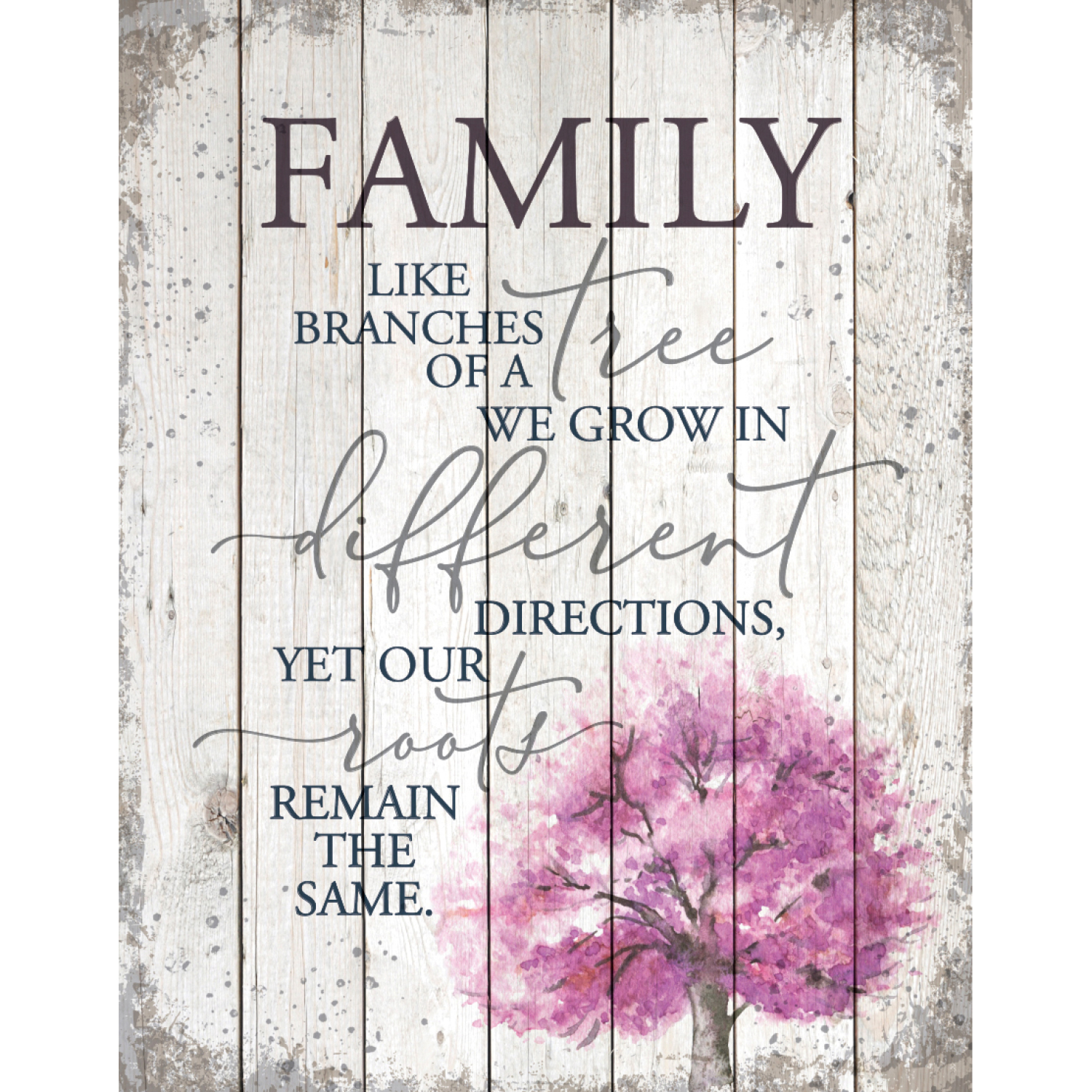 Family-Like Branches On A Tree Wood Plaque 11.75 Inches X 15 Inches