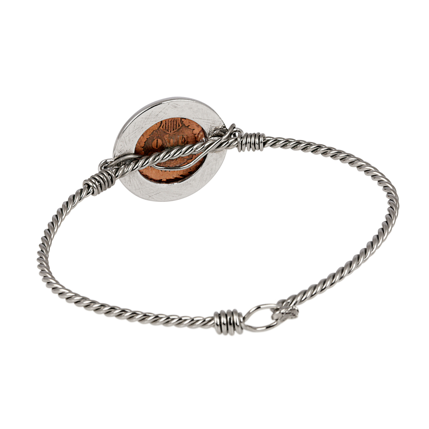Indian Penny Twisted Wire Bracelet