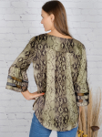 Wonder Blossom Animal Top With Mesh Insert At Sleeve - 3