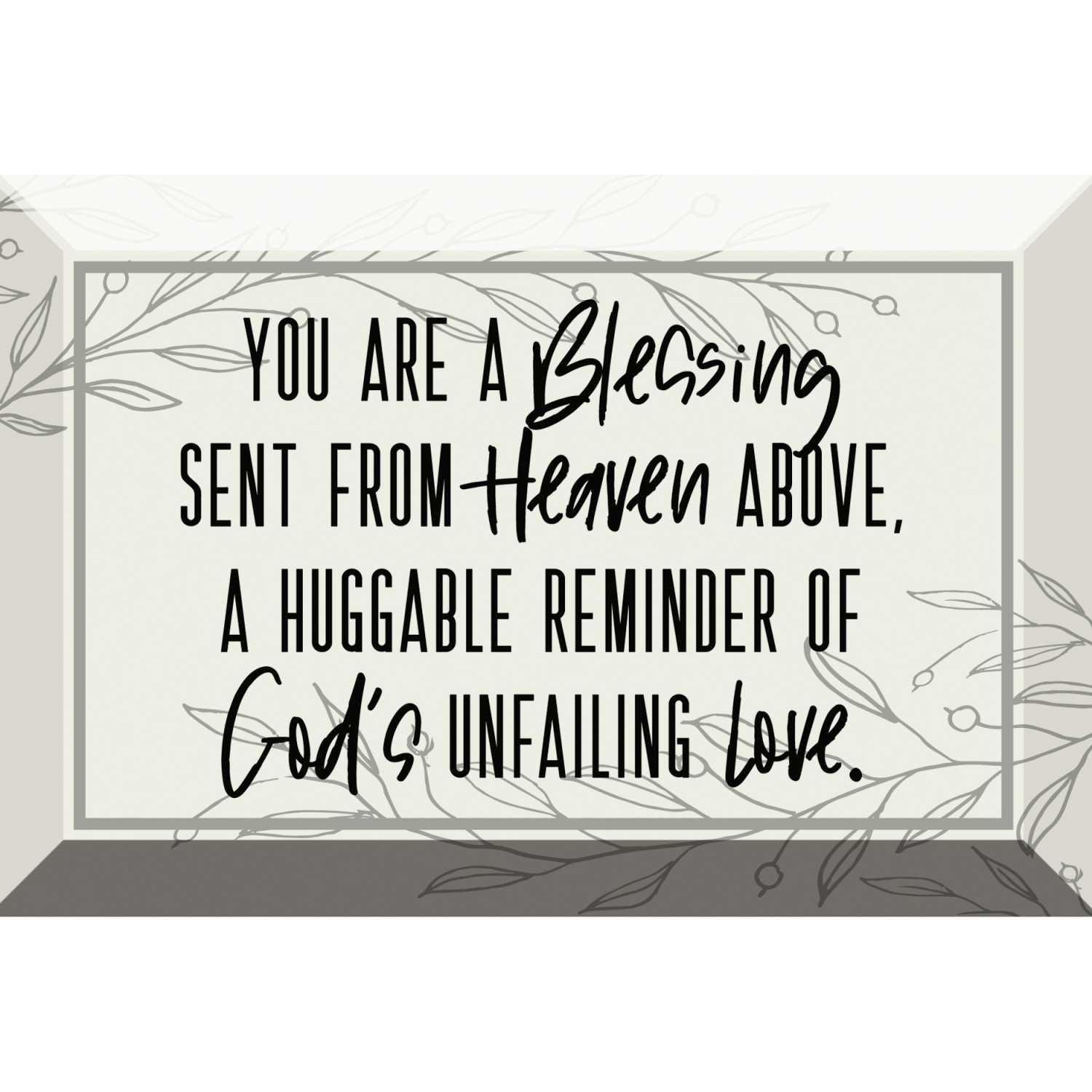 You Are A Blessing Glass Plaque With Easel 6