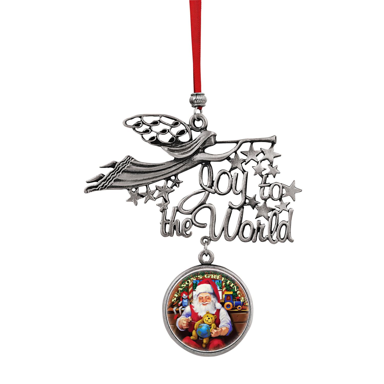 Joy To The World Santa Season's Greetings Jfk Half Dollar Ornament