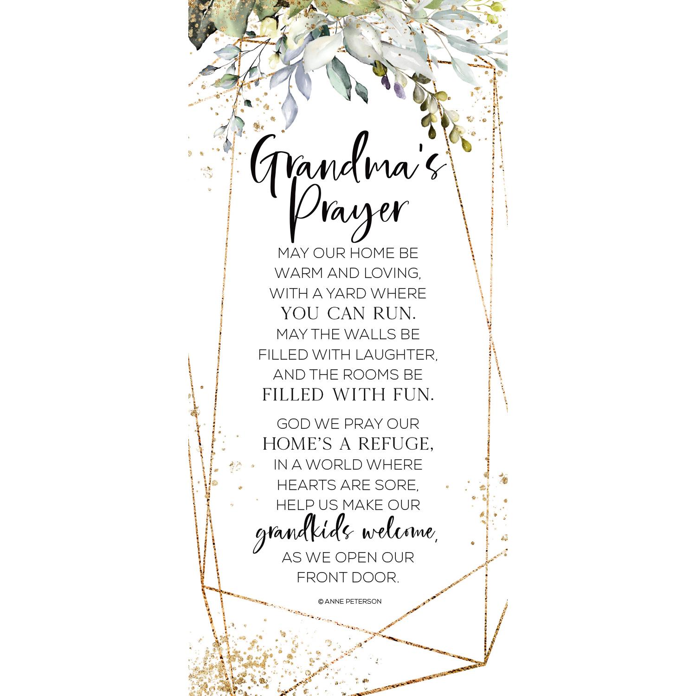 Grandma's Prayer Wood Plaque 5.5 Inches X 12 Inches