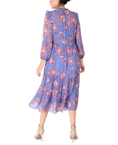 JJ Long Sleeve Ruffle Dress - Back