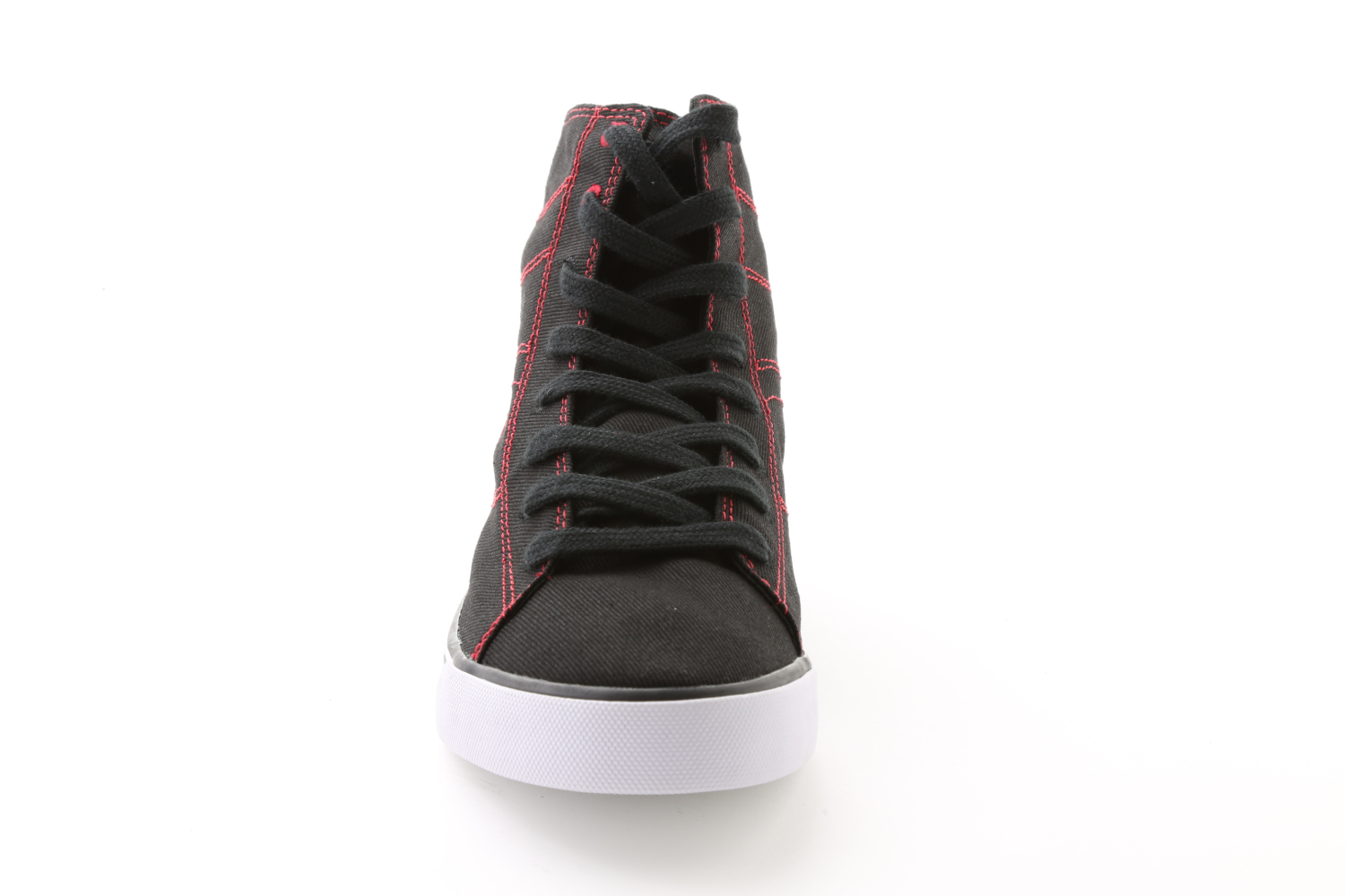 Pastry Adult Canvas High Top Dance Sneaker Black/Red