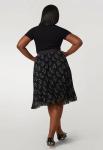Maree Pour Toi Pleated Chiffon Print Midi Skirt - 2