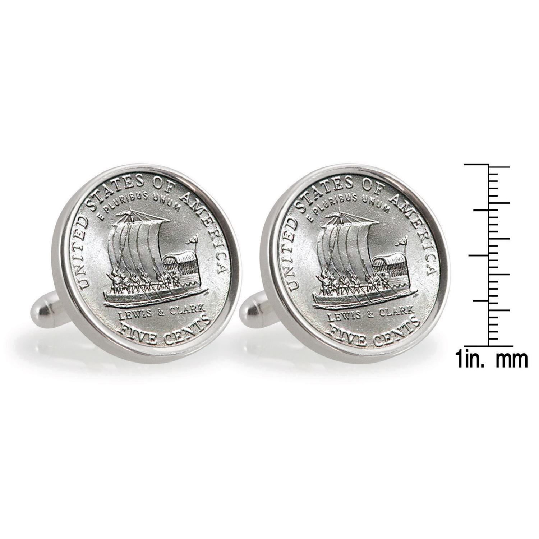 2004 Keelboat Sterling Silver Coin Cufflinks