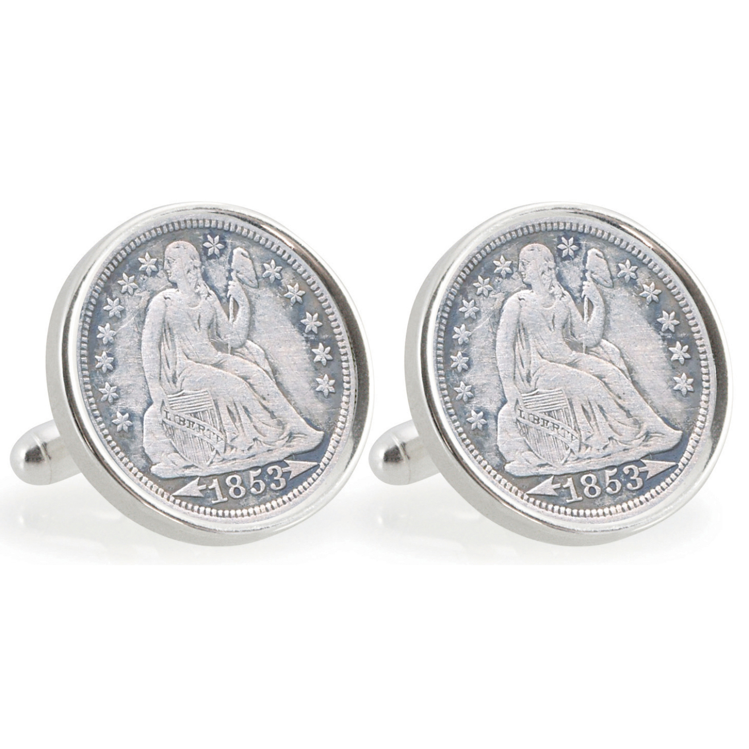 Universtiy Of Florida 1853 Sterling Silver Dime Coin Cuff Links