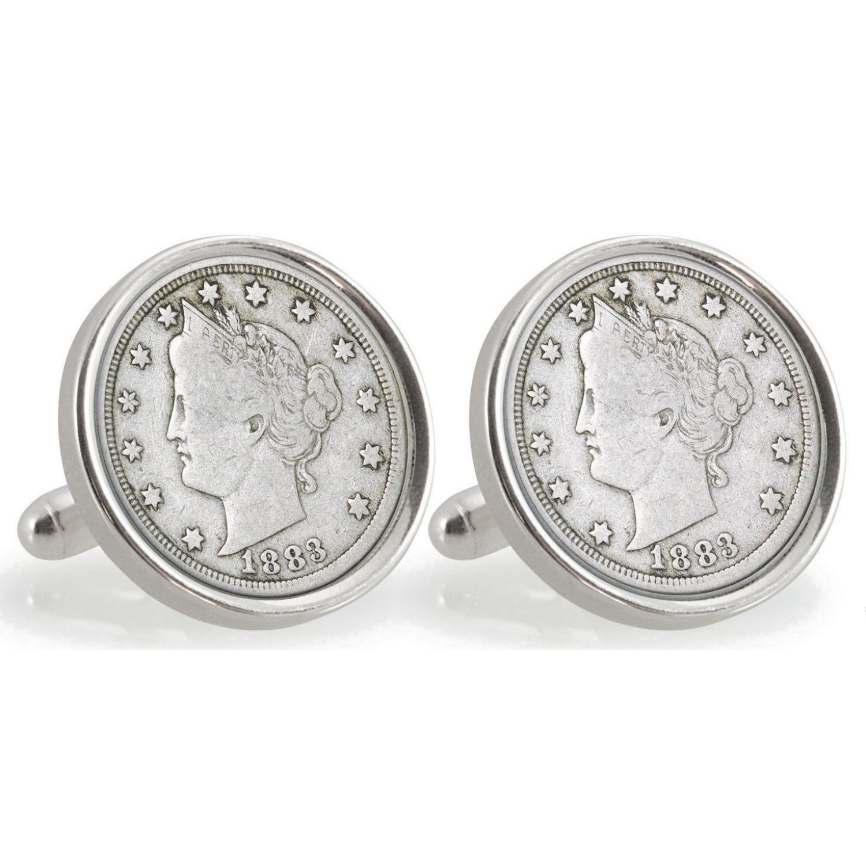 University Of Texas 1883 Sterling Silver Nickel Coin Cufflinks
