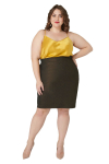 Maree Pour Toi Foiled Scuba Skirt - 1