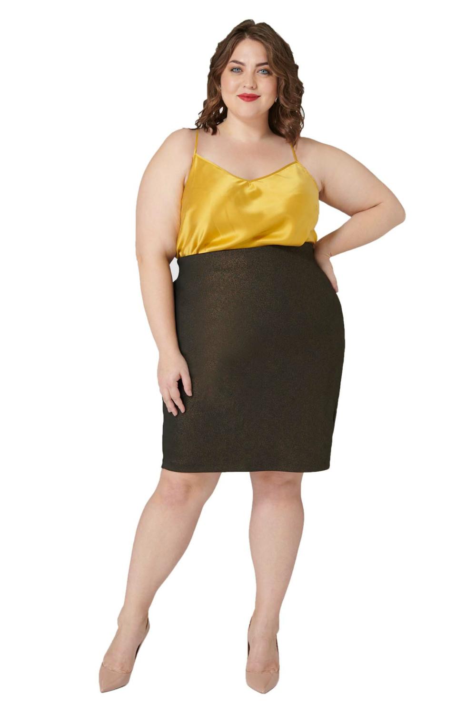 Maree Pour Toi Foiled Scuba Skirt
