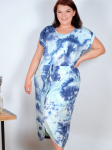 DB Sunday Tie Dye Tulip Front Dress - Plus - 1