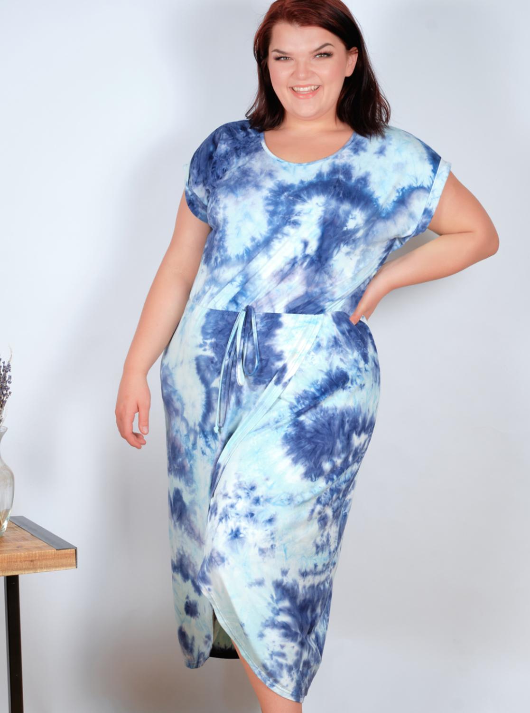 DB Sunday Tie Dye Tulip Front Dress - Plus