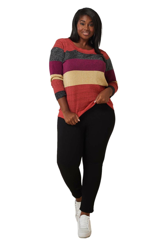 Maree Pour Toi Multi Lurex Striped Sweater