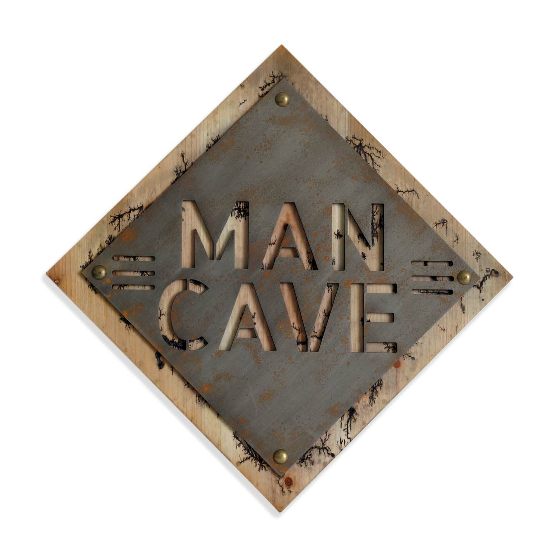 Man Cave Metal Cutout Wall Art