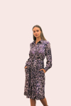 Amelia New York Purple Mist Tie Shirt Dress - 3