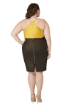 Maree Pour Toi Foiled Scuba Skirt - 2