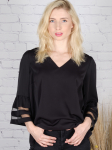 Wonder Blossom Top With Mesh Insert At Sleeve - 1