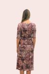 Amelia New York Ruched Printed Plum Dress - 2