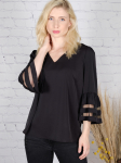 Wonder Blossom Top With Mesh Insert At Sleeve - 3
