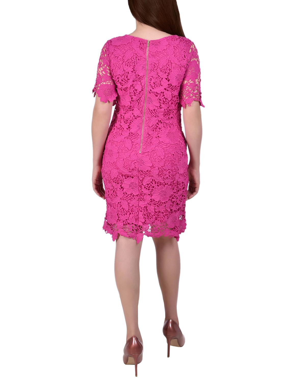 Ny Collection Short Sleeve Lace Sheath Dress