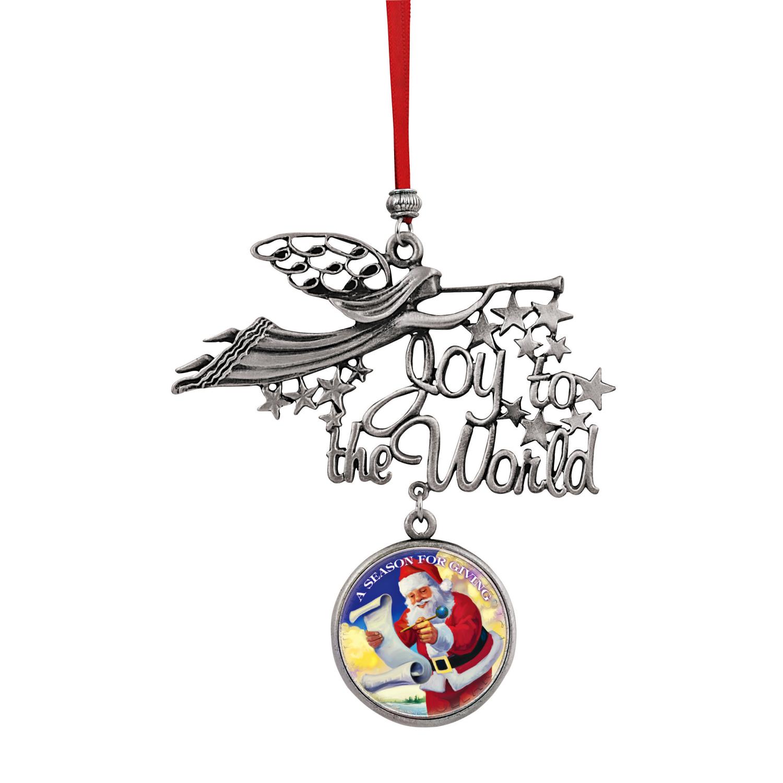 Joy To The World Santa A Season For Giving Jfk Half Dollar Ornament