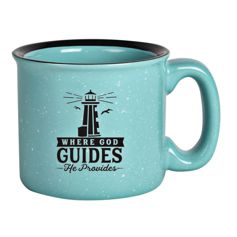Where God Guides Designer Ceramic Mug 15 Ounces