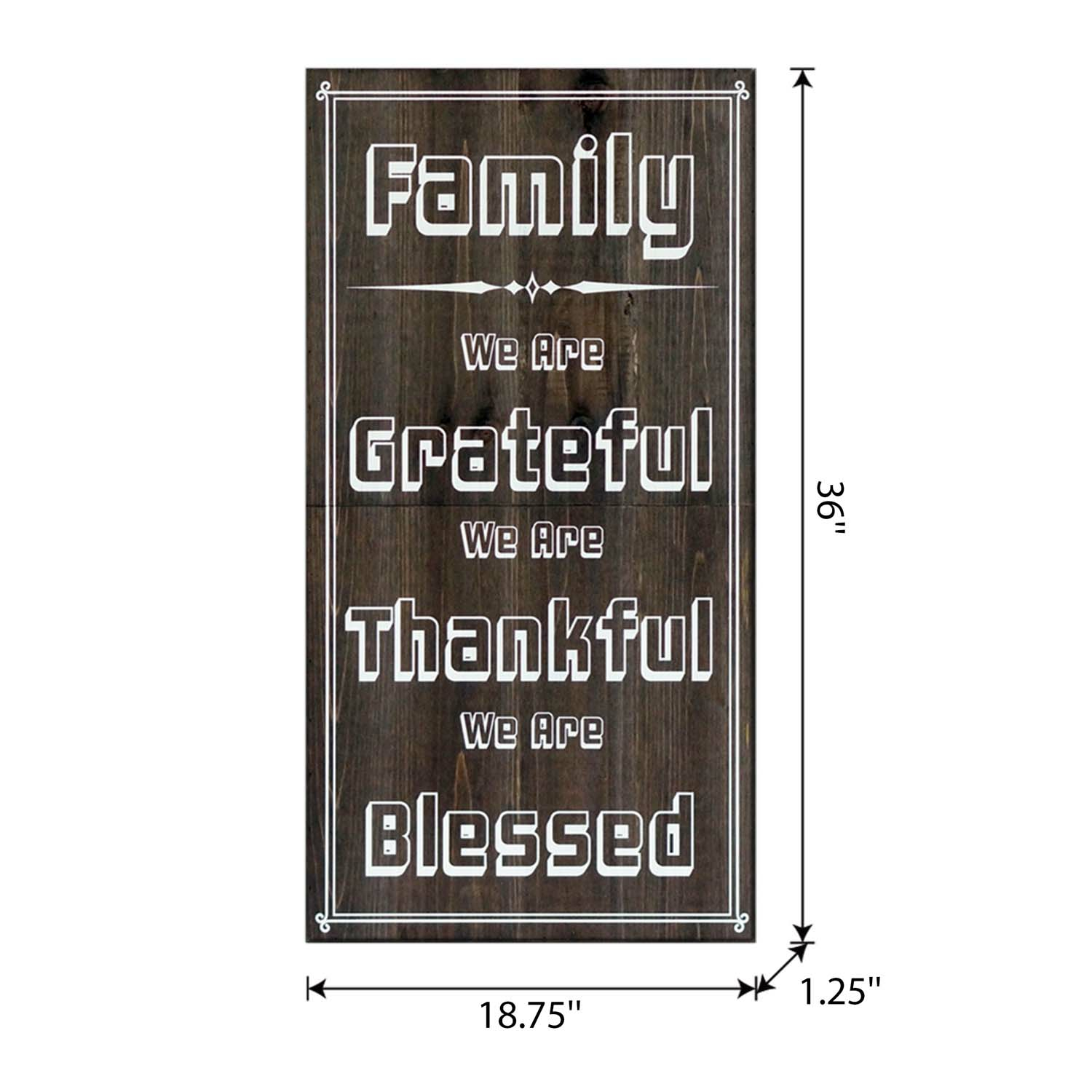 Craft Wood Easel Board 36In Brown Family-Thankful