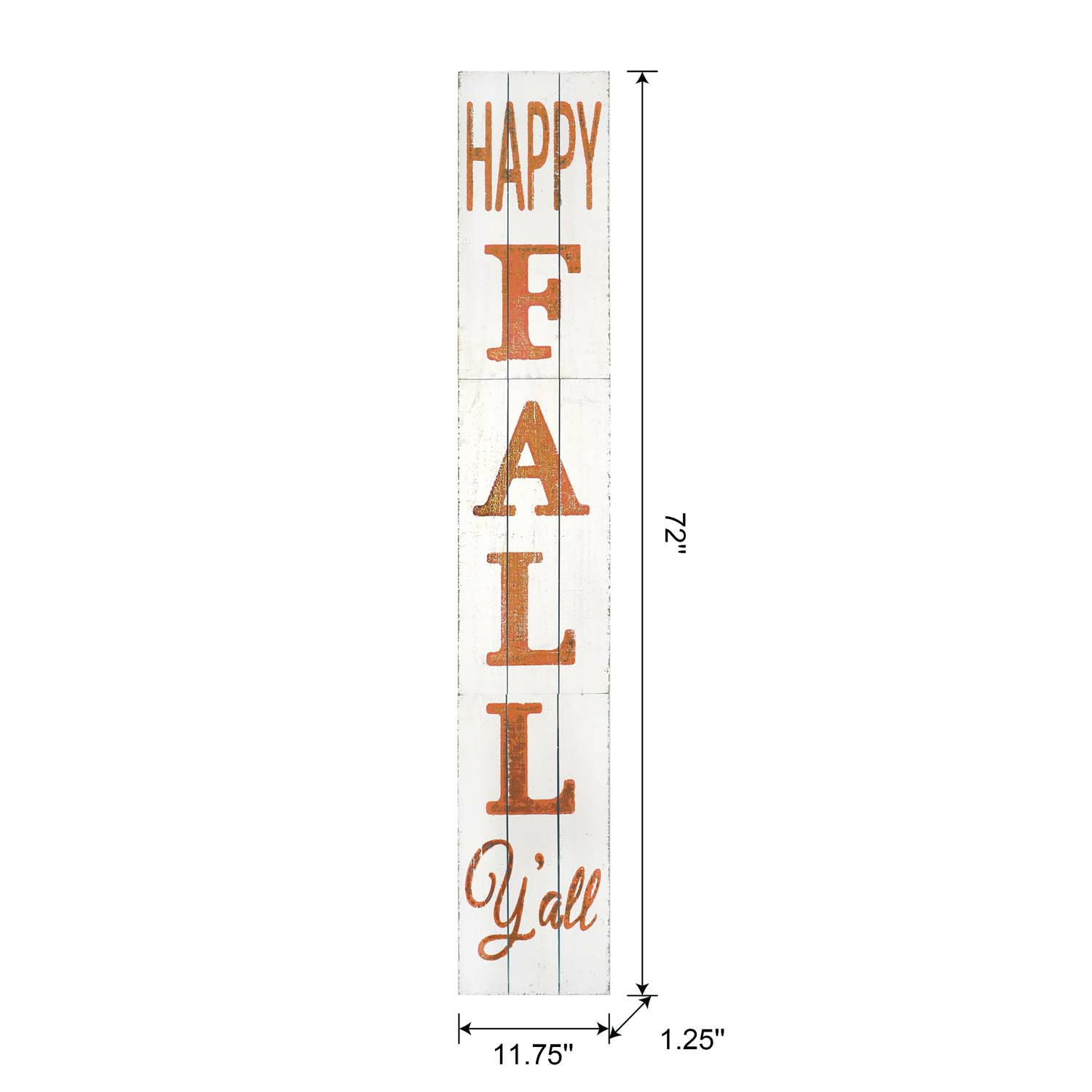 Happy Fall Yall Wood Porch Sign-White 11.75In
