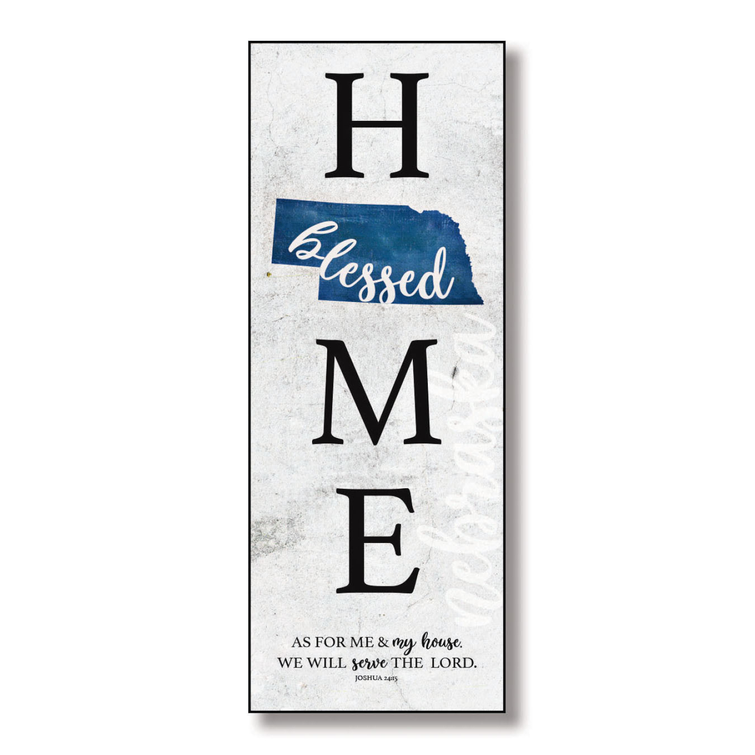 Nebraska Home-Blessed Wood Wall Plaque With Hanger 6 Inches X 15 3/4 Inches