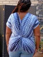 DB Sunday Tie Dye Reversible Knit Top - Plus - Back