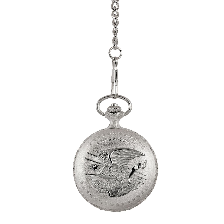 Brilliant Uncirculated 1800'S Morgan Silver Dollar Coin Pocket Watch