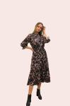 Amelia New York Mauve Quartz Pring Long Sleeve Dress - 1