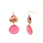 Carol Dauplaise Double drop pink Earring - 1