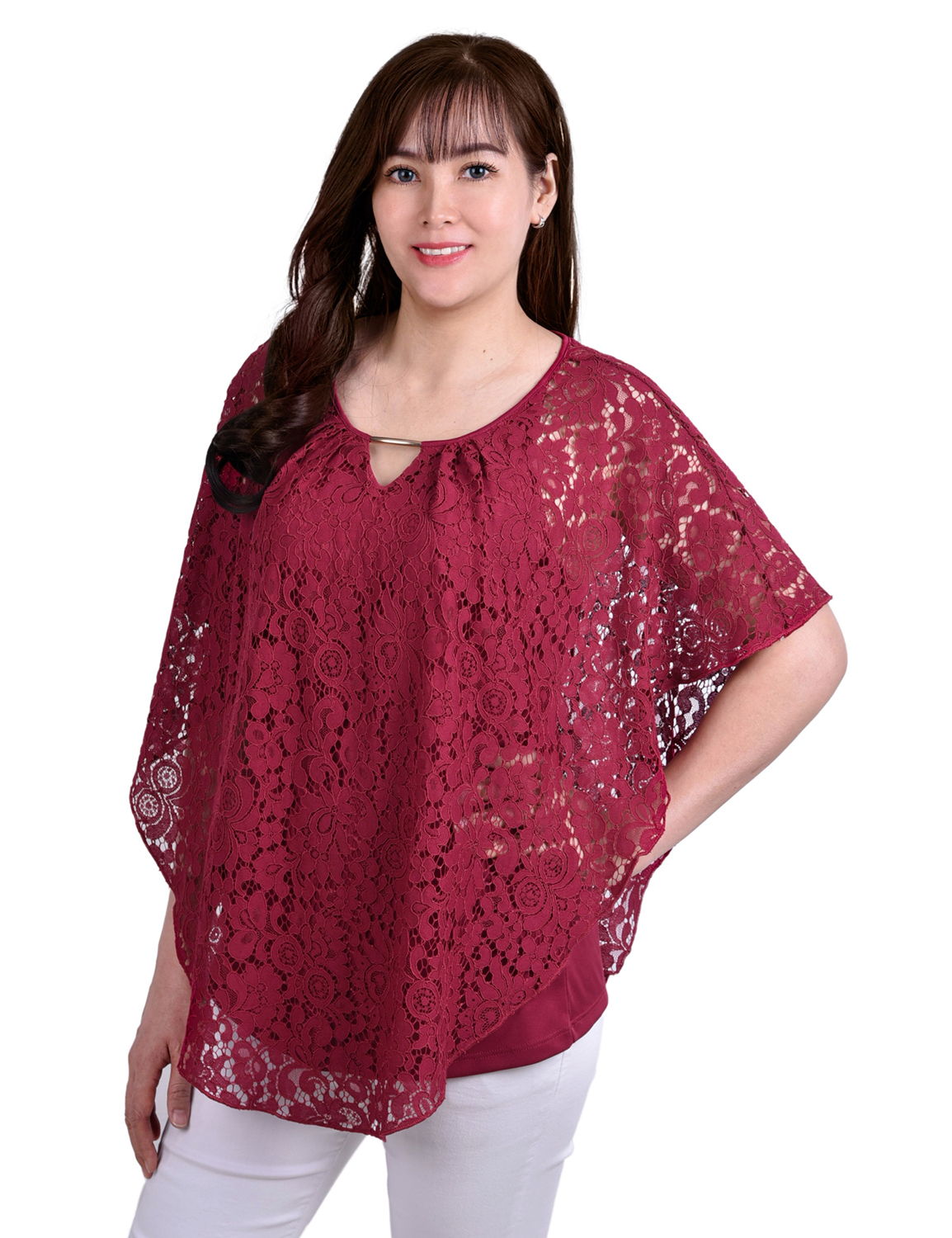 Lace Poncho With Matching Tank