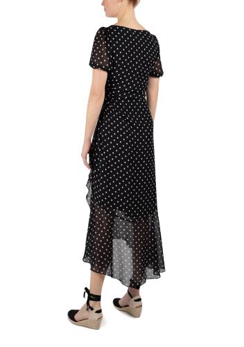 JJ Short Sleeve Ruffle Side Seam Dress - Back