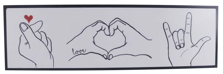 Rectangle Love Finger Sign