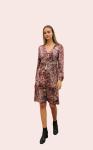 Amelia New York Long Sleeve Plum Print Dress - 3