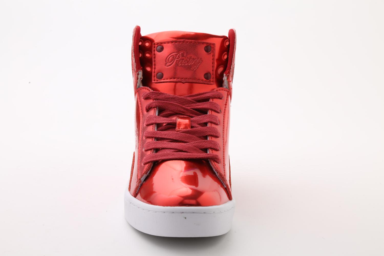 Pastry Pop Tart Glitter Adult Sneaker Red