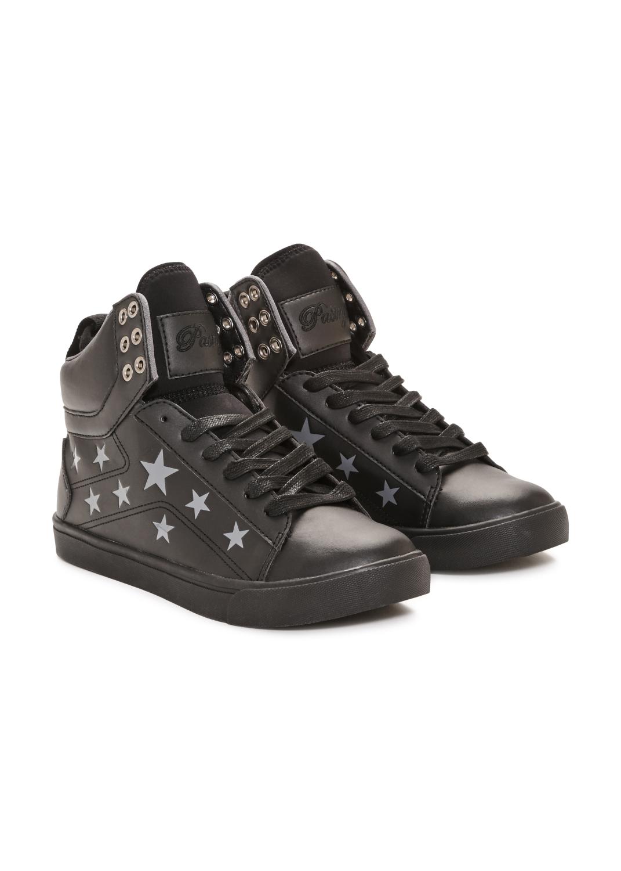Pastry Pop Tart Star Adult Sneaker Black/Black