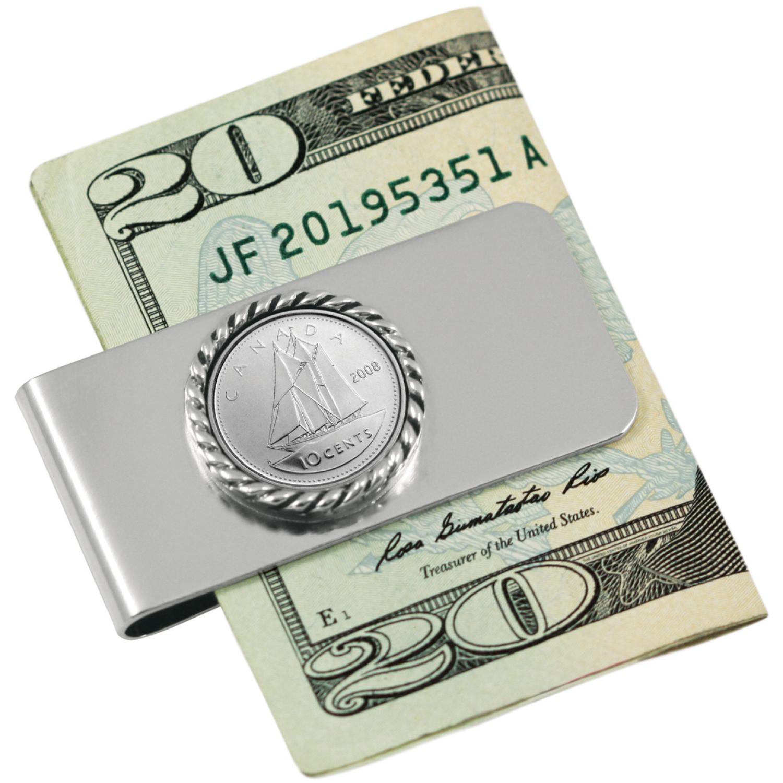 Canada Ship Coin Money Clip
