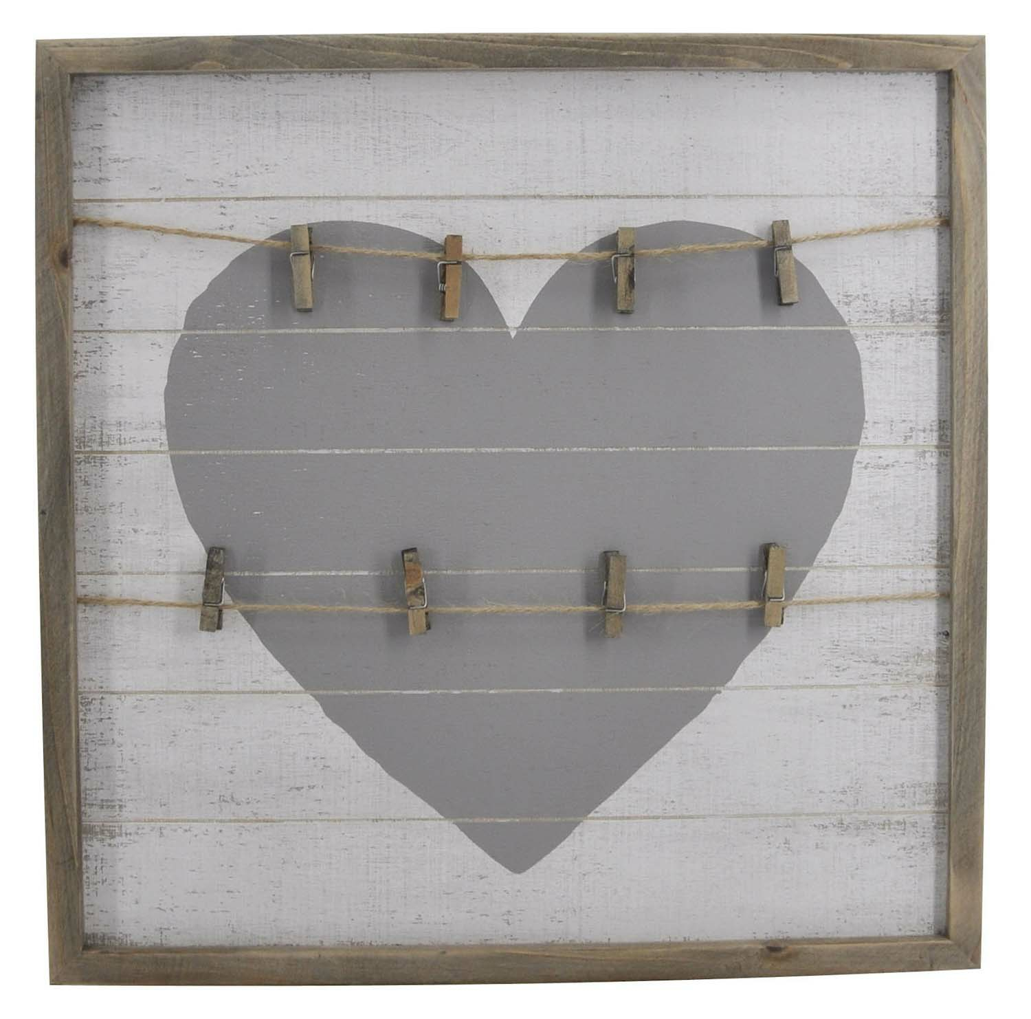 Square Framed Heart Shaped Wall Clips