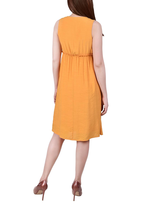 Ny Collection Petite Sleeveless Crochet Detail Dress