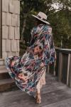 Sukiso Women's Gold Deco Isabella Kimono - O/S - 2