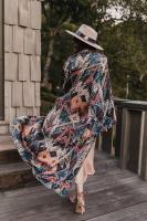 Sukiso Women's Gold Deco Isabella Kimono - O/S - Back